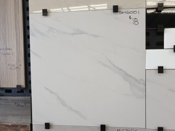 Matt finish Marble/Carrara-look Porcelain Tiles 300mm x 600mm